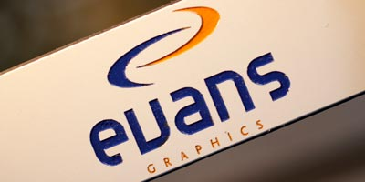 Logo Engraved | Evans Graphics