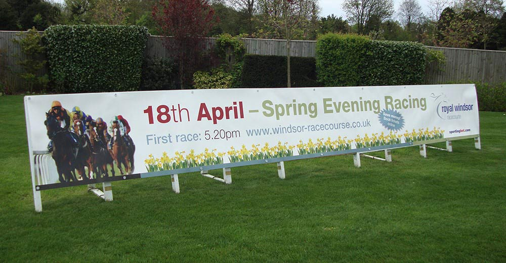 Windsor Racecourse PVC banner