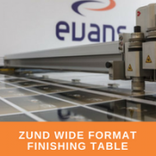 Zund Wide Format Finishing Table