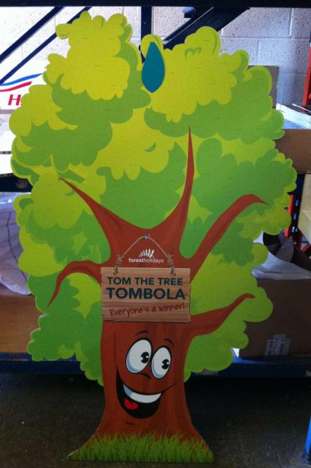 Tom The Tree Tombola Stand | Evans Graphics