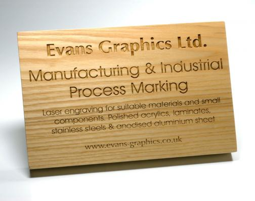 Engraved Wood | Evans Graphics