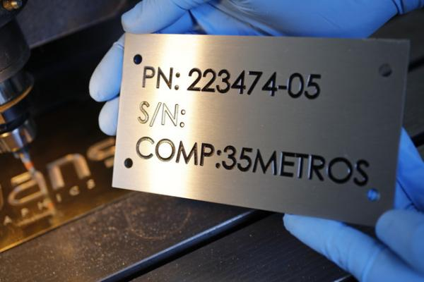 Engraved Rating Plate | Evans Graphics
